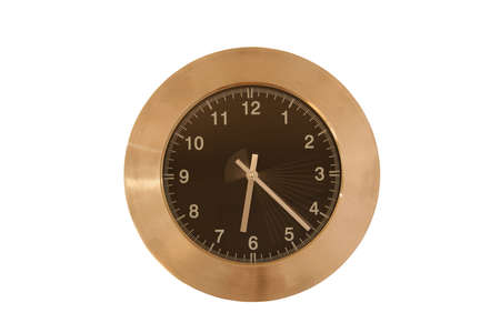 dinnertime: Photo of wall clock, with speeding seconds
