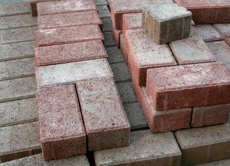 pileup: A stack of bricks Stock Photo