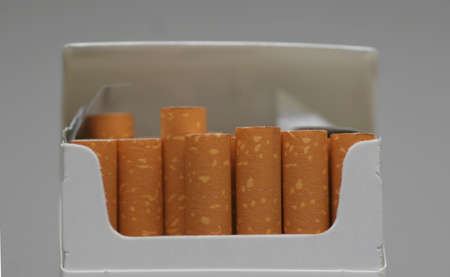A pack of cigarettes Stock Photo