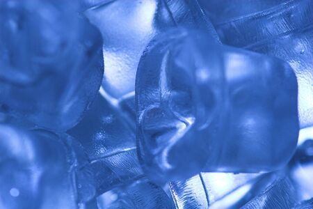 icecubes: icecubes tinted blue to simulate extreme cold Stock Photo