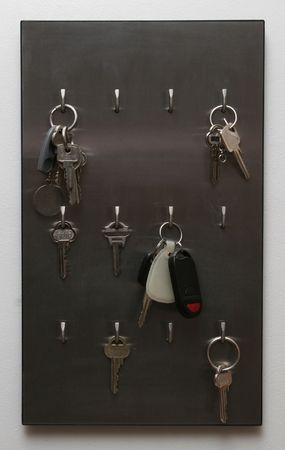 card to hang keys onto