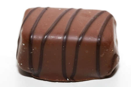 fancy sweet box: Macro of Belgian chocolate shot from the side