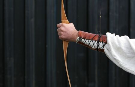 medieval Archer shooting arrows at targets