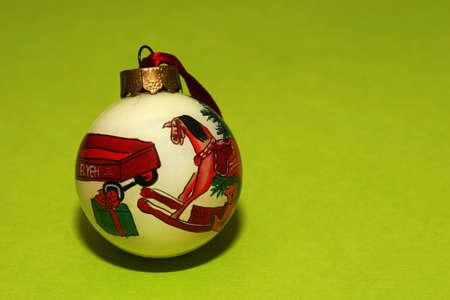old fashioned christmas: Christmas decoration, an old fashioned christmas ball to hang on a tree. Stock Photo