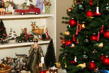 all kinds of christmas decorations, decorated tree, angels, figures, toys etc. Stock Photo - 755047