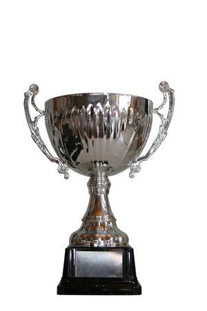화이트 절연 클리핑 패스와 함께 첫 번째 우승 트로피.