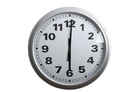 o�??clock: Un reloj de pared con estilo Mostrando 6 o'clock