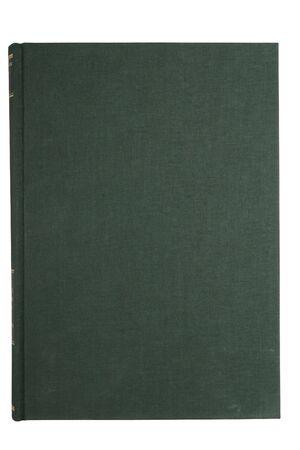illiteracy: portada del libro verde en blanco aislado en blanco  Foto de archivo