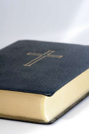 Holy bible, well worn and read, shot on white Stock Photo - 2166099