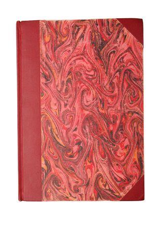 illiteracy: en blanco vintage libro rojo sobre blanco, aislados