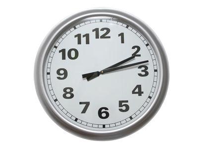 orologio da parete: orologio da parete in alluminio isolata on white