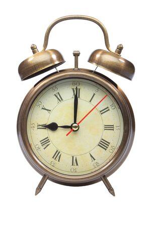 o�??clock: Un anticuado reloj de alarma a las nueve oclock Foto de archivo