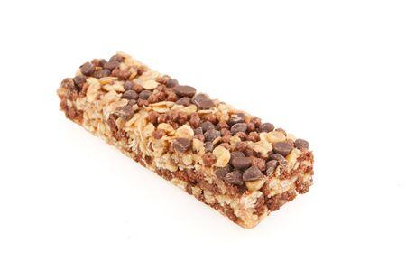 Healthy granola bar isolated on white Stock Photo - 6827429