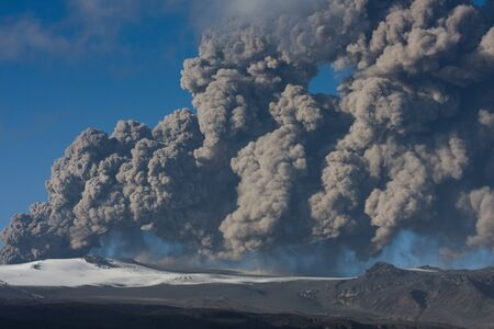 ashcloud from iceland volcano photo
