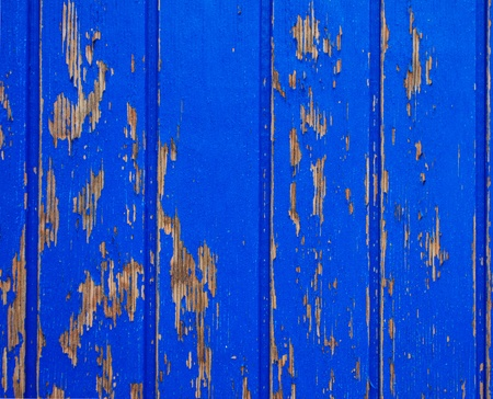 flaky: Blue painted wood background, flaky paint
