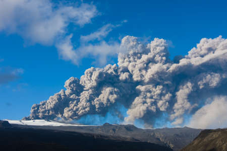 Ashcloud from Eyjafjallajokull Stock Photo - 14590715