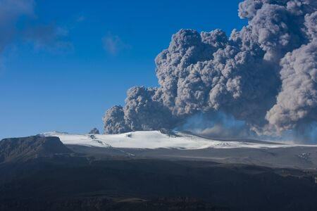 ashcloud from icelandic eruption photo