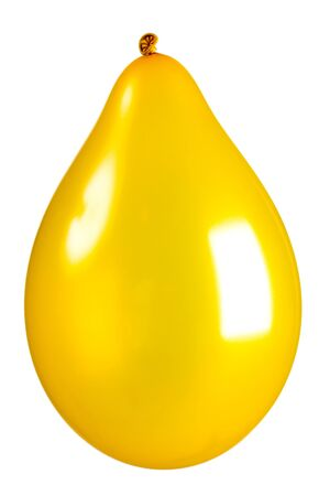 Gold colored balloon isolated on white Stock Photo - 9856873