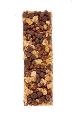 Granola energy bar isolated on white Stock Photo - 9856611