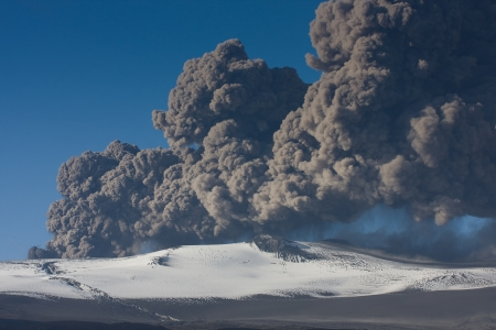 Ash fallout from eruption photo