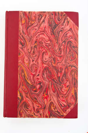 Old hardcover book isolated on white Stock Photo - 9857032