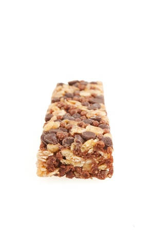 Healthy protein bar isolated on white Stock Photo - 9856874