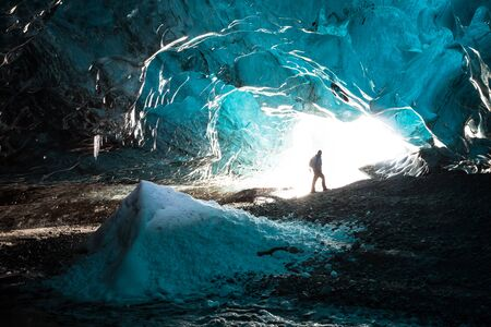 Inside an icecave in Vatnajokull, Iceland