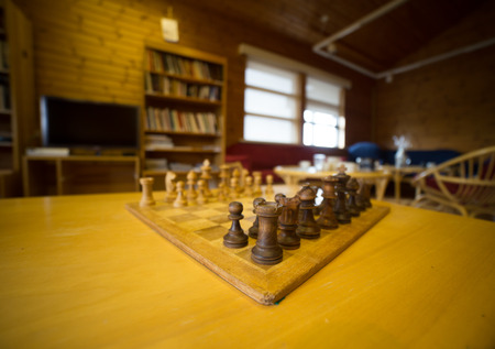 move ahead: shallow focus on a board of chess