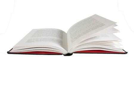 libro abierto: Un libro abierto sobre fondo blanco, aislado 100% y fácil de extraer del fondo