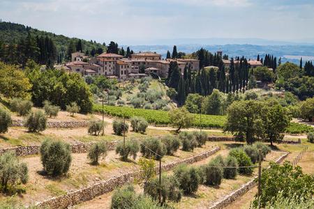 destination scenics: The beautyful town of Castellina in chianti Italy