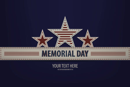 Illustration of a Memorial Day Design Vector