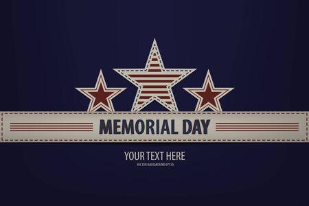 Illustration of a Memorial Day Design 矢量图像