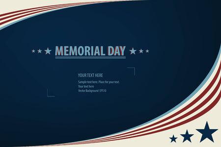 Illustration d'une conception du Memorial Day Banque d'images - 28508720
