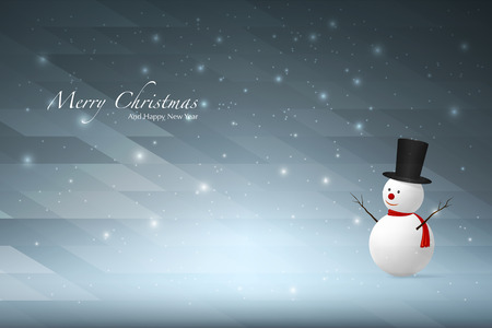 snowman background: Christmas background with Snowman