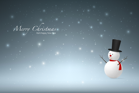 snowman wood: Christmas background with Snowman