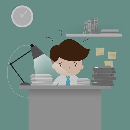 hard: Hard Working Illustration
