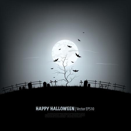 halloween greetings: Halloween background.