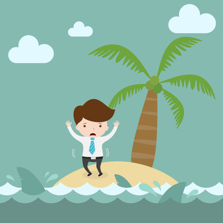 castaway: Businessman need help on island.