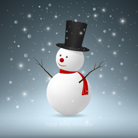 vector eps10: Christmas Snowman,Vector EPS10.