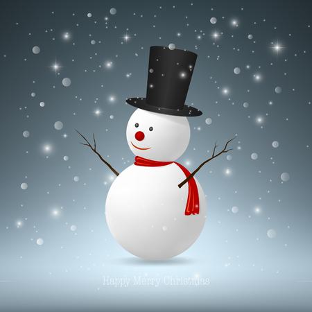 snowman vector: Christmas Snowman,Vector EPS10.