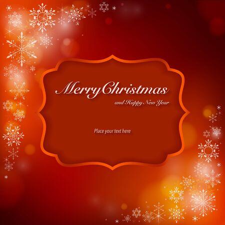Christmas card. 矢量图像