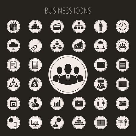 icons set: Business icons set.