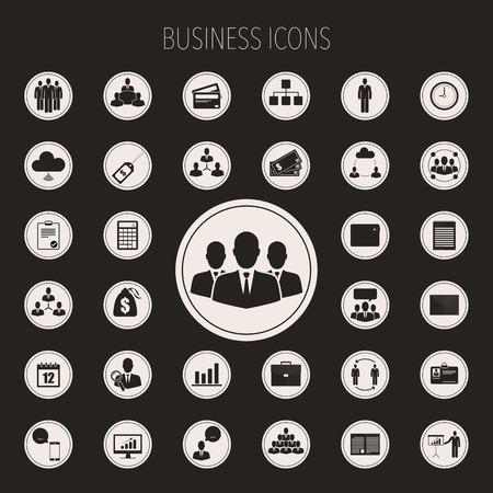 Icônes d'affaires réglées. Banque d'images - 48721519