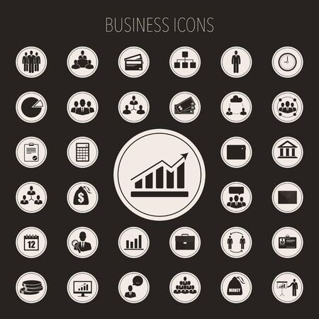 icons business: Business icons set.