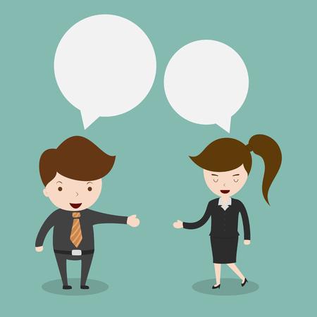 personas dialogando: El hombre de negocios discutir
