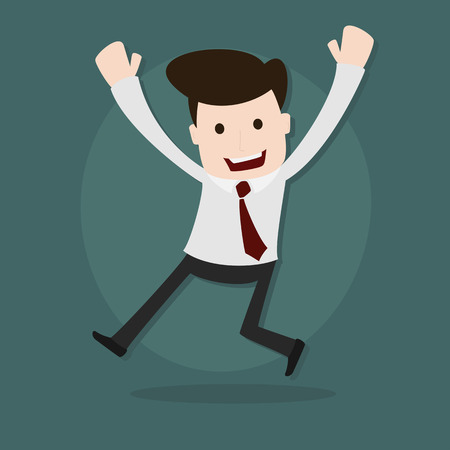 Uomo d'affari felice l'uomo, vettoriale EPS 10.