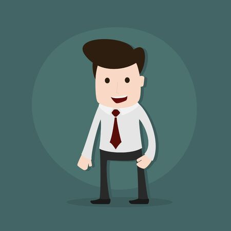 happy business man: Cartoon illustration of a young businessman,Vector EPS10.