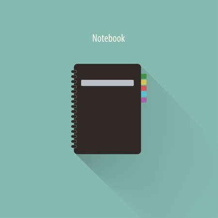 spiral notebook: Vector illustration of spiral notebook,Vector EPS10. Illustration