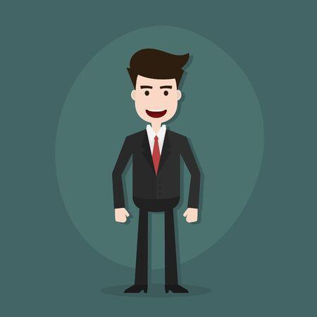 doubtful: Cartoon illustration of a young businessman,Vector EPS10.