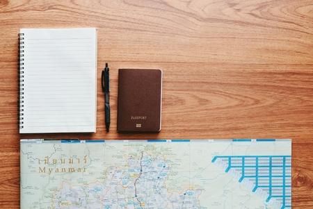 Carte voyage voyage destination direction planification concept. Banque d'images - 85181131